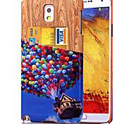 karzea ™ balão padrão pu couro caso de volta com o titular do cartão e um suporte para Samsung Galaxy nota 5 / nota 4 / nota 3