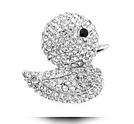 Cute Little Yellow Duck Inlaid Diamond Brooch