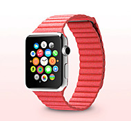 Apple Watch Band 42mm and 38mm Premium Vintage Genuine Leather Replacement Watchband  Magnetic band Stone