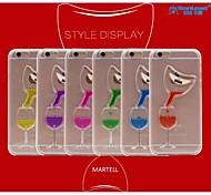 sanlead Martell-Flasche pc mit Gummi und Sand Flüssigkeitsrückseitenfall für iphone6 plus, 6s plus (verschiedene Farben)