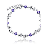 S925 Pure Stering Silver AAA Zircon Bracelet,Fine JewelryImitation Diamond Birthstone