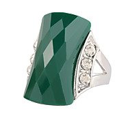 Green Horse Eye Resin Ring Silver Plated Fashion Turkey Jewelry For Women Beautiful Outfit 2 Colors