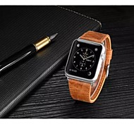 Luxus-Leder-Bandbügel Armband Ersatz-Armband mit Adapterverschluss für Apfel Uhr 42mm / 38mm
