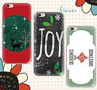 caso suave día de Navidad maycari®happy transparente TPU para el iphone 6s 6 / iphone (colores surtidos)