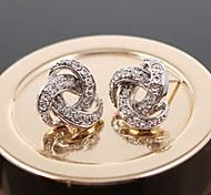 New Arrival Fashional Rhinestone Spiral Earrings