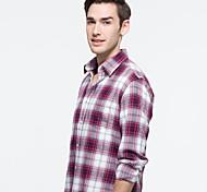 JamesEarl Men's Shirt Collar Long Sleeve Shirt & Blouse Red - DA202046901