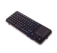 Mini 2.4ghz touchpad teclado inalámbrico para windows \ linux-mac os \ android \ goole \ smart tv os negro