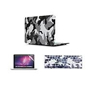 """3 in 1 Camouflage-Design-Kastenabdeckung + Tastatur-Abdeckung + Displayschutzhülle für MacBook Air 11 """"Retina 13"""" / 15 """""""