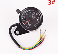 Iztoss Motorcycle Dual Odometer Speedometer Gauge LED Backlight Signal Light