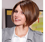 European Women Lady Brown Color Charming Short  Syntheic  Wig