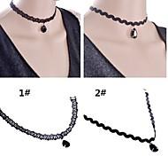 Damen Halsketten Anhängerketten Gothic Schmuck Spitze Tropfen 1 # 2 # Schmuck Hochzeit Party Halloween Alltag Normal 1 Stück