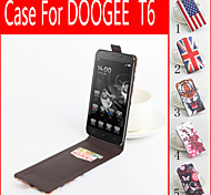 For DOOGEE Case Card Holder / Flip / Pattern Case Full Body Case Cartoon Hard PU Leather DOOGEE