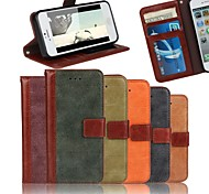 dépoli bourse de cuir étui en cuir couture de luxe avec protecteur d'écran pour iPhone 5 / 5s