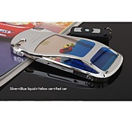 Sanlead Blue Liquid+Red Car+Yellow Car PC With Liquid With Flotage Back Case For Iphone5,5S(Assorted Colors)