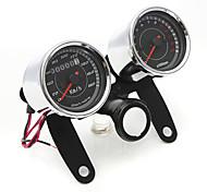 iztoss universelle LED-Motorrad-Drehzahlmesser Tachometer Gauge + Kilometerzähler