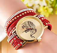 Woman Elephant Rivet Wrist  Watch Cool Watches Unique Watches