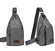 Men's Casual Canvas Sports Bag Chest Bag