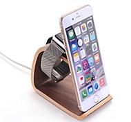 carrinho de madeira SAMDI para iPhone e relógio de maçã