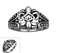Maya Classical Individual Generous Relative Royal Crown Stainless Steel Man Ring(Black)(1Pcs)