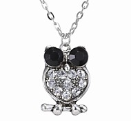 Stylish Diamond Owl Necklace