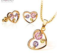 Bijoux Colliers décoratifs / Boucles d'oreille Mariage / Soirée / Quotidien / Décontracté Cristal 1set Femme Doré Cadeaux de mariage