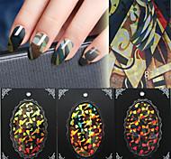 Fashion Nail Art cellophane Nail Art BlueSky glass paper laser Nail Art Decorations 3D Nail Tips Design