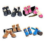Dog Socks & Boots Black / Green / Blue / Brown / Pink Winter Waterproof