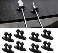 ziqiao 8шт многофункциональный клей автомобильное зарядное устройство линии застежка зажим для наушников / USB кабель автомобилей Клип