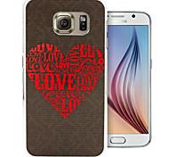 liefde patroon pc Cover Case voor Samsung Galaxy S6 / S6 rand