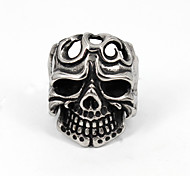 Vintage Hollowed Skull Head Stainless Steel Casting Finger Ring