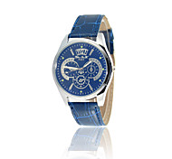 Symphony blue fashion lovers quartz watch brand upscale men's leather watches three six-pin female models
