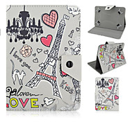 Universal 7 inch tablet PC Cute Cartoon Pattern leather case magnetic smart case