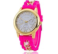Xu™ Neutral Silicone Roman Literally Quartz Watch