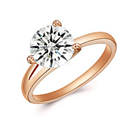 Fashion Ring New Women Engagement Austrian Crystal 18K Gold Plated Zircon Ring Wedding Bride Jewelry