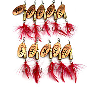 10pcs 75mm 10g Fishing Spinner Bait  Lure Random Color