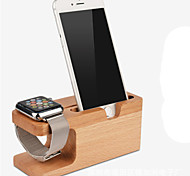 iWatch Stand/IPhone 6(4.7&5.5) Support Charger Rack Creative Wood Storage Seat