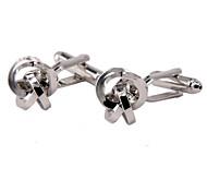 Jewelry Brass Material, Steel Knot Cufflink Shape
