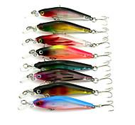 1 pc Pesciolini Pesciolini Colori casuali 6.32 g Oncia mm pollice,Plastica dura Pesca a mulinello