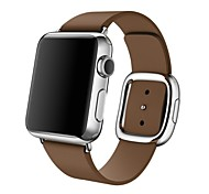Fashion Replacement iWatch Band With Modern Buckle for Apple Watch Leather Wristband Strap Size L