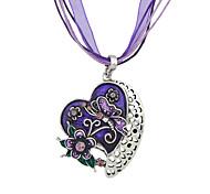 New Fashion Enamel And Rhinestone Cute Heart Pendant Necklace