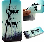 Choose To Be Happy Words Phrase Pattern 0.6mm Ultra-Thin Soft Case for Samsung Galaxy S7/S7 edge/S7 PLUS