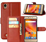 For ZTE Case Card Holder / with Stand / Flip Case Full Body Case Solid Color Hard PU Leather ZTE