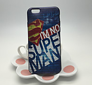 Superman Pattern Embossed Feel High Quality TPU Soft Back Case for iPhone 6/6s