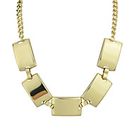 Gold Silver Plated Chunky Chain Necklace