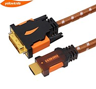 yellowknife  HDMI to DVI Cable High speed Gold Plated Plug Male-Male 1080p for HDTV XBOX PS3