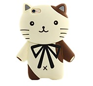 Cute Kitten Silicone Soft Back Cover for iPhone 6/6S