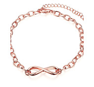 Simple Generous Women's Bowknot Rose Gold Plated Brass Chain & Link Bracelet(Rose Gold)(1Pc)