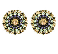 Multicolors Rhinestone Small Stud Earrings