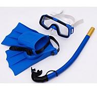 enfants snorkeling lunettes sambo lunettes de natation lunettes de respiration palmes costume de tube (couleurs aléatoires)
