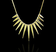 Punk Golden Tassels Short Necklace